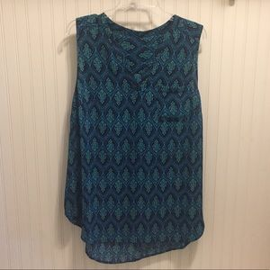 Maurices button up sleeveless blouse